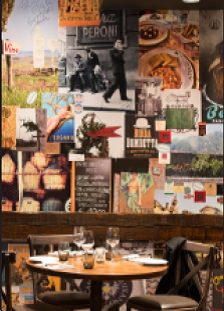The 900 sq.ft. Italian Themed Collage Wall