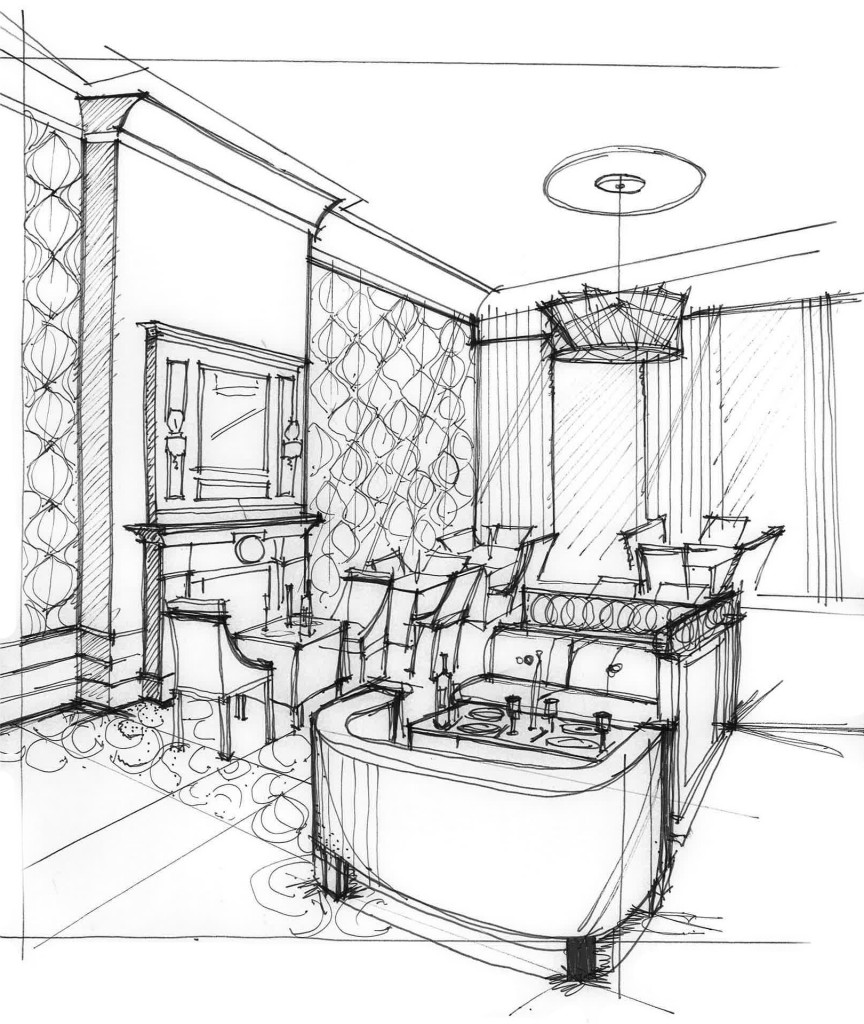 Lounge Area Rendering